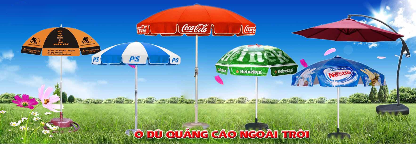 bang bao gia o du quang cao cua cong ty o du viet nam - Bảng báo giá ô dù quảng cáo của công ty ô dù Việt Nam
